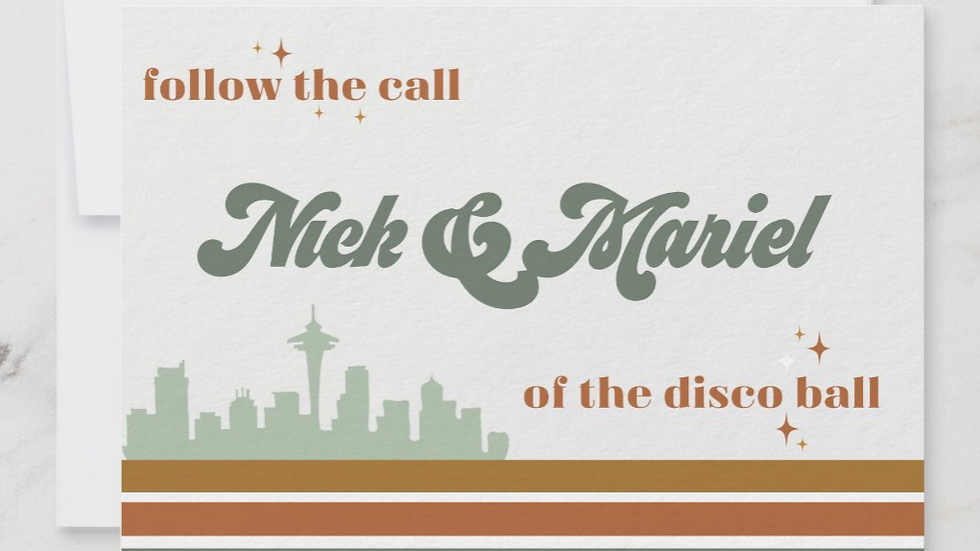 """Seattle Disco"" Save The Date"