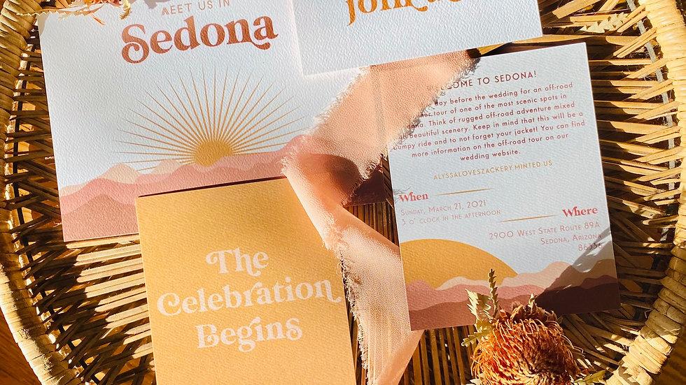 """""""Sedona Desert"""" Invitation Suite - PDF"""