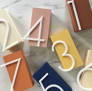 Retro table numbers for your wedding_ Re