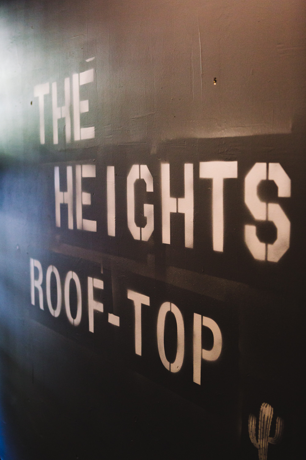 A sign at the entrance to the Rooftop