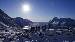 Schneeschuhwandern Lofoten