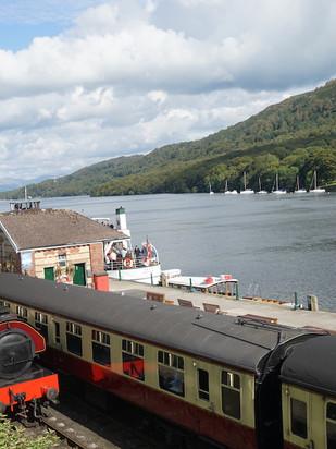 Where the rails meet the lake.JPG