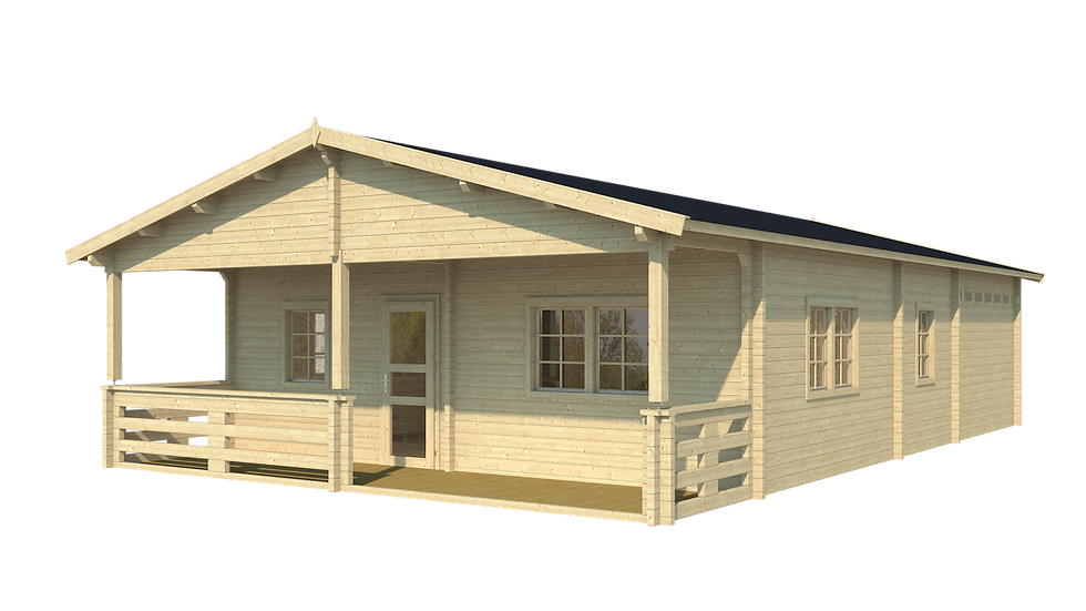 Jackson 24 ft.  x  34 ft. multi room log cabin building kit
