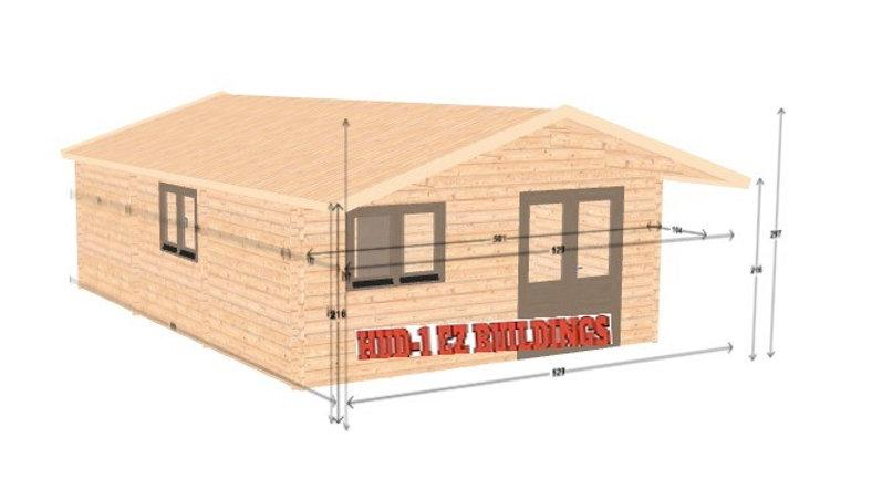 Toreco JL44 17 ft 4 in x 25 ft 2 in Log cabin D.I.Y. Building kit
