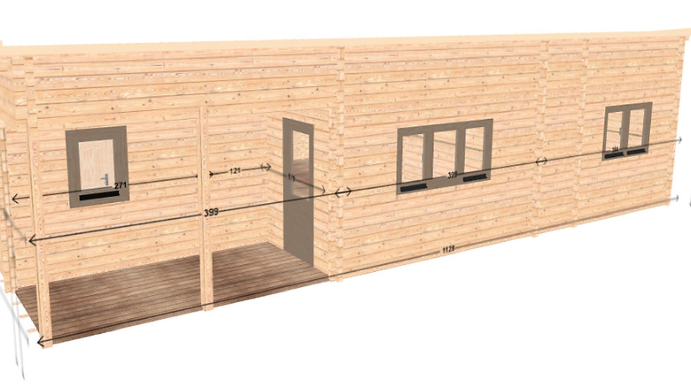 Lean J68 37 ft. x 24 ft. milled log timbers do it yourself building kit