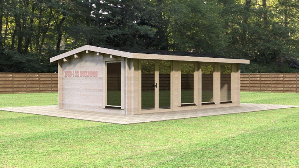 11 ft. 8 in. x 16 ft. 7 in. x 8 ft.  2 in. D.I.Y. log cabin building kit