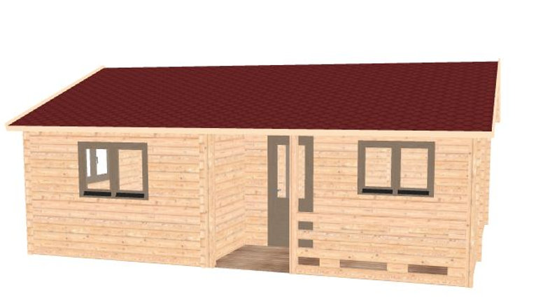 Nulacc 2R   25 ft. x 19 ft. multi room with porch D.I.Y. building kit