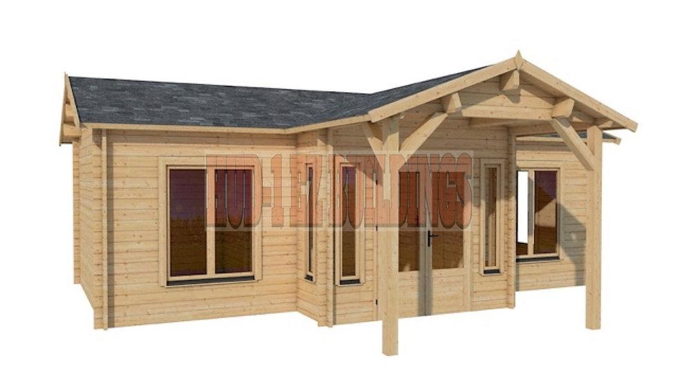 Cottage  26 ft. x 14 ft. Log Cabin Pool Garden House D.I.Y. building kit
