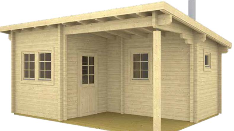 Samiam sauna pool house is 17 ft. 5 inx 13 ft.  building kit