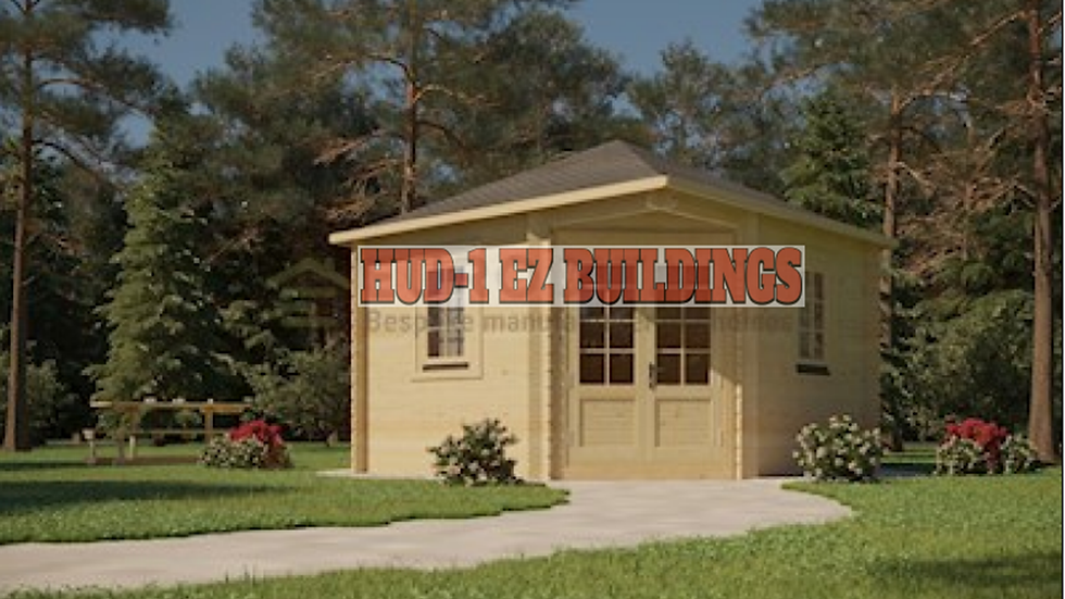 VictorB 28 mm 118 in. x 118 in. x 111 in. Log Garden House Building kit