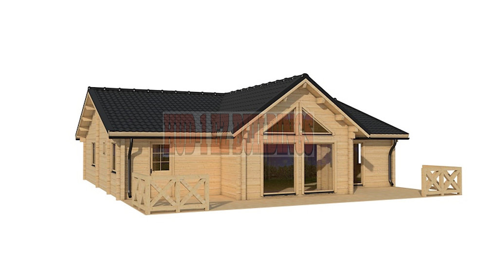 Berlin G180 1640 sq. ft. Glulam log home D.I.Y. building kit