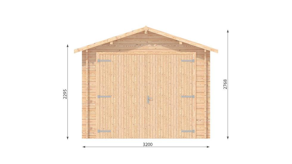Garage J44mm 10 ft. 5 in. x 17 ft.  178 sq. ft. D.I.Y. building kit
