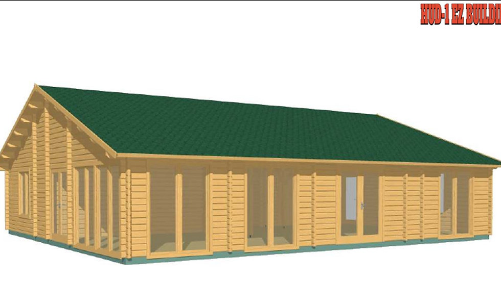 Ria J68d 1275 sq. ft. multi room D.I.Y log home building kit