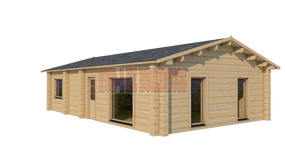 Anders G220 22 ft 9 in x  36 ft 824 sq. ft. Glulam log home D.I.Y. building kit