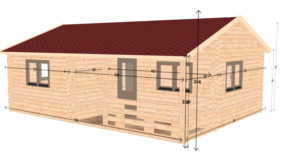Nulacc JF68i 25 ft. x 19 ft. multi room 391 sq. ft. insulated building kit