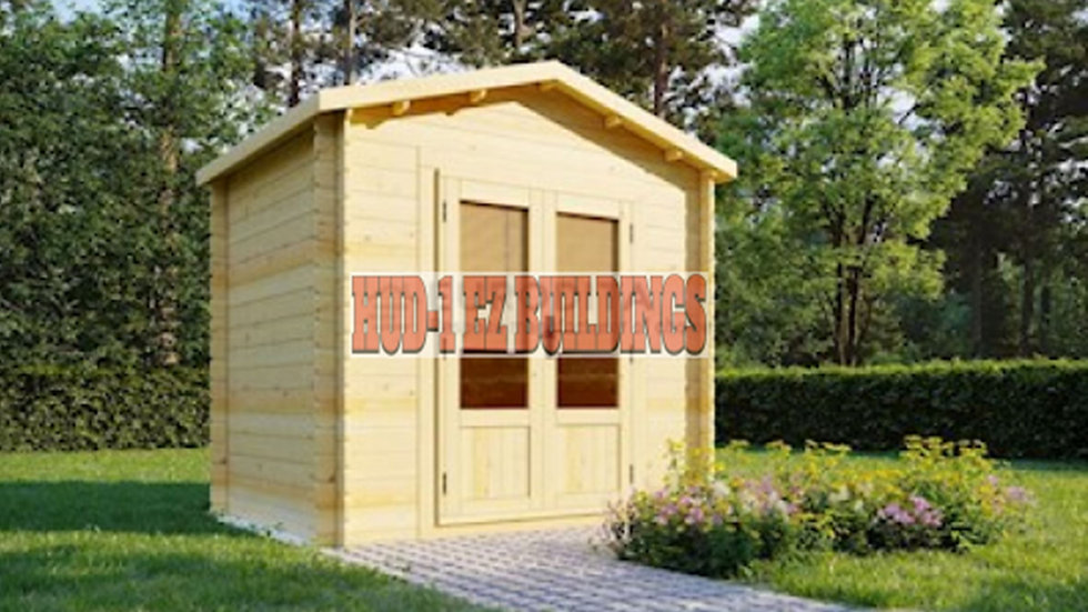 Tina Ad 6 ft. 5 in.  x 7 ft. 6 in. DIY Log Garden House Storage Building Kit