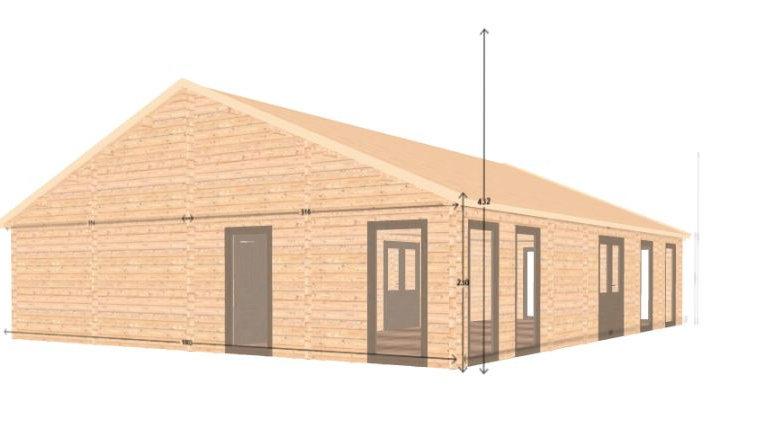 Victoria J512 1206 sq. ft. multi room D.I.Y log home building kit