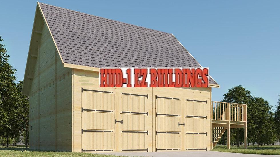Garage E2 two  story 19.5 ft. x 19.5 ft.  x 18 ft 6 in. D.I.Y. Building kit