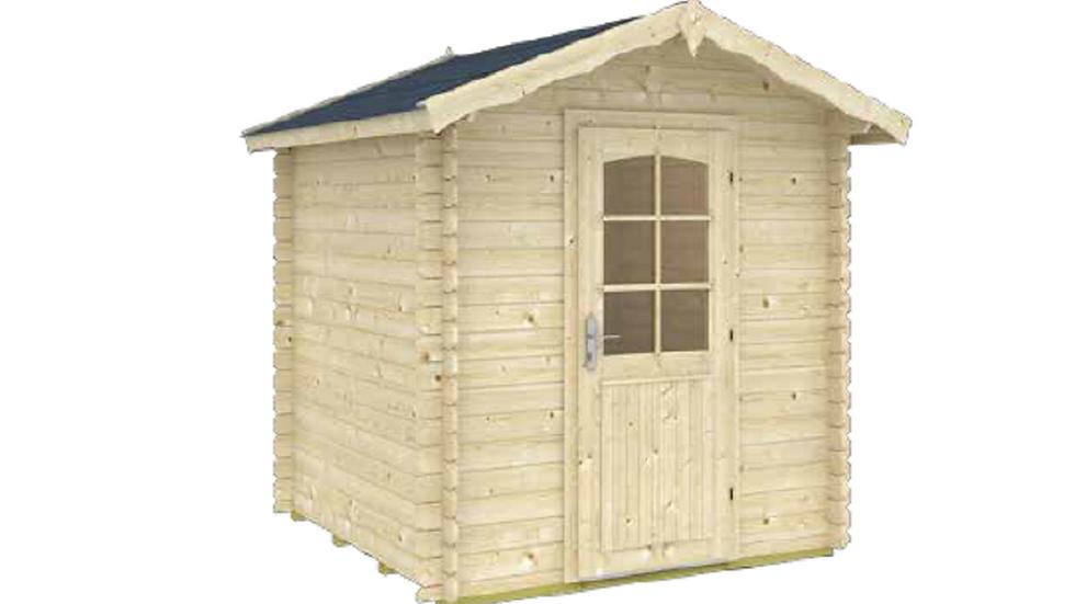 Tina A DIY Log Garden House Storage Building Kit