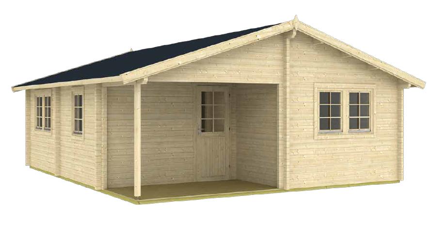 24.25 ft. D x 20.08 ft. W Wood Log Hobby Workshop Office D.I.Y. building kit