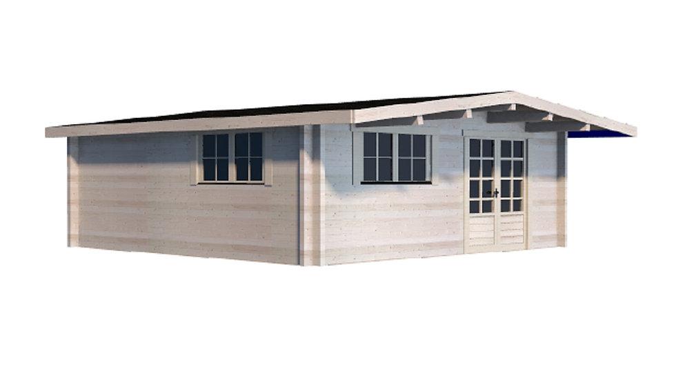 Tara S90 16 ft. x 16 ft. Log  Cabin D.I.Y.  Building kit