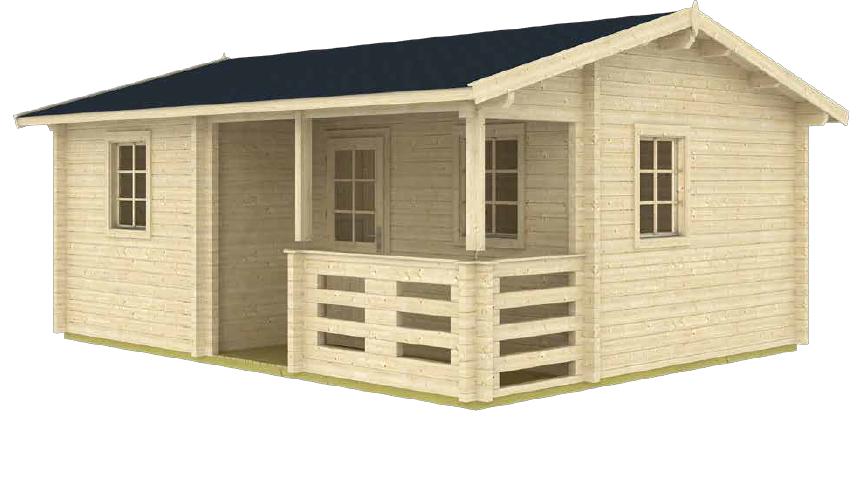 anorev 2R 15 ft. x 19 ft. multi room 285 sq. ft. D.I.Y. building kit