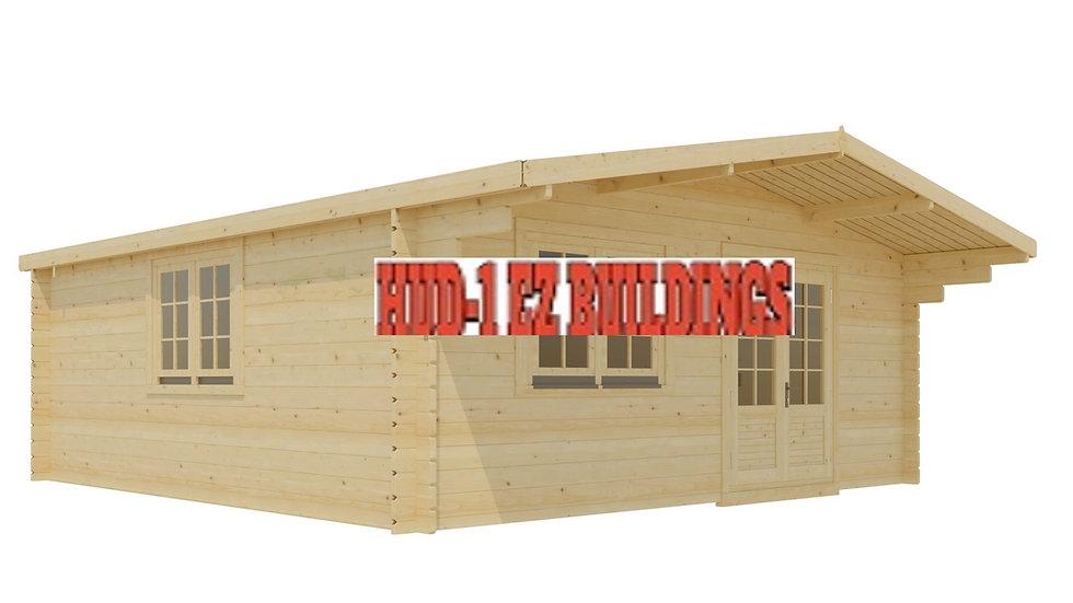 Trudie 13 ft. 1 in. x 16 ft. 4 in. Wood Log Garden Hobby Workshop Office S