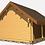 Thumbnail: Jaiden G90 16 ft. x 24 ft. x 14 ft. Log Cabin Style D.I.Y. building kit