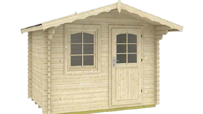 Trondheim 7 ft. 1/4 in. x 9 ft. 1/2 in. x 8 ft. Log Garden House Hobby Workshop