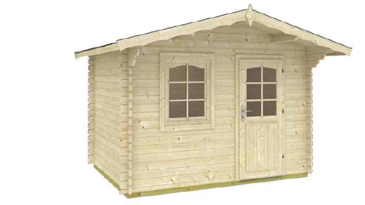10 ft. 5 in. x 12 ft. 5 in. x 8 ft. Log Garden House D.I.Y. building kit