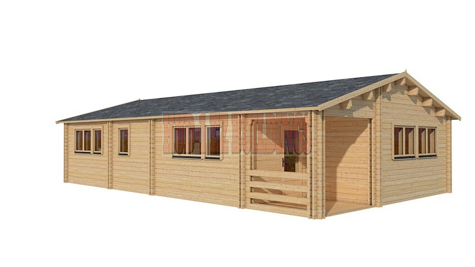 Rural D70 22 ft 6 in x 37 ft 2 in  D.I.Y  wall log building kit