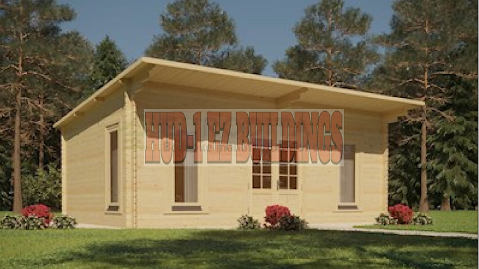 Euro STL 187 sq. ft. Log Cabin Style Pool Garden House D.I.Y. building kit