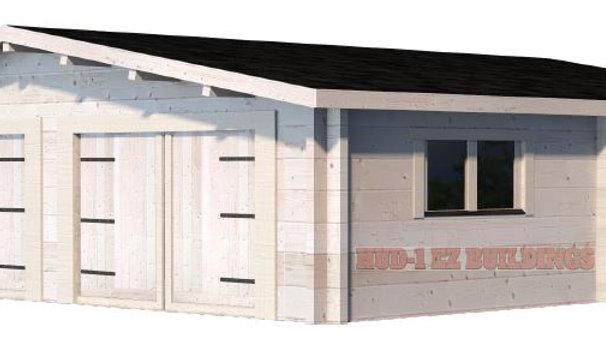 Garage 24G 24 ft. x 24ft. x 10 ft. D.I.Y.  Glulam Log Garage Kit