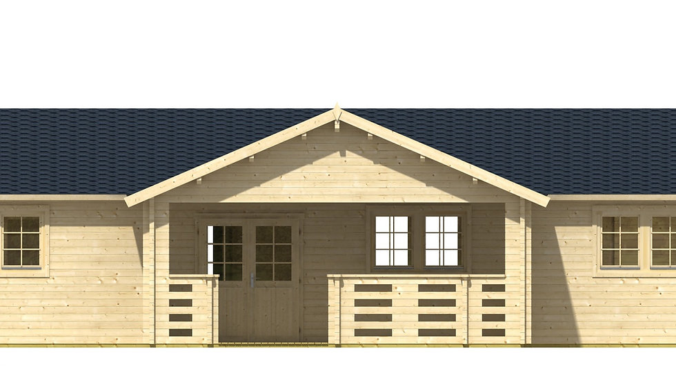 Nicole 1247 sq ft 7 room DIY Log Cabin Home building Kit with 118 sq ft porch