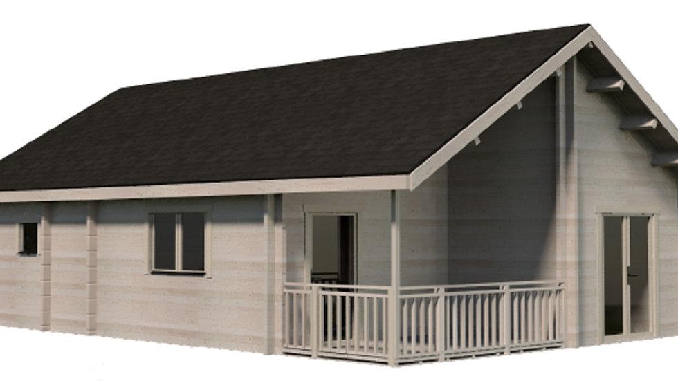 Marc5 20ft x 30ft  Log house Building Kit with bunk loft sleep area