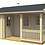 Thumbnail: Tomieb 18 ft. x 15 ft. 7 in. Sauna Pool House series D.I.Y. building kit