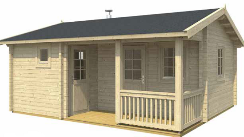 Tomieb 18 ft. x 15 ft. 7 in. Sauna Pool House series D.I.Y. building kit