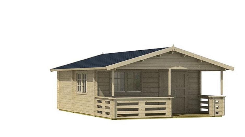 Torme70 17 ft 4 in x 27 ft 2 in Log cabin D.I.Y. Building kit