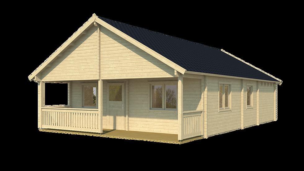 Jackson P32  24 ft.  x  34 ft. multi room log cabin building kit