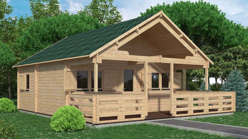 Gustav J68 19 ft. 5 in x 19 ft. 5 in multi room Log  Cabin D.I.Y.  Build