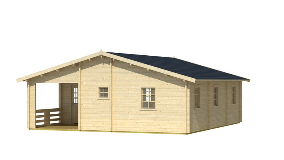 Ashton 19 ft. 5 in. x 19 ft. 5 in. Log Cabin Style Studio Guest Hobby Work Space