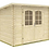 Thumbnail: Gloria A 9 ft. 8 in. x 6 ft. 5 in. Modern Low Slope Log Garden House Storage Bui