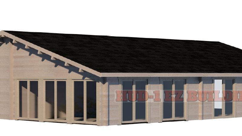 Victoria G70 1252 sq. ft.  multi room D.I.Y log building kit