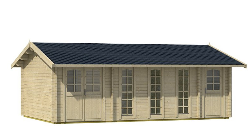 LeoB70 23 ft. x 14 ft. Log Cabin Pool Garden House D.I.Y. building kitl