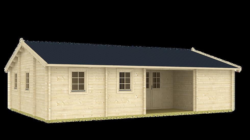 Meridian 32 ft. 8 in x 22 ft 3 in Log Cabin D.I.Y.  Building kit