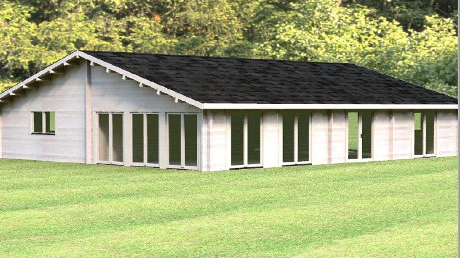 Victoria G70i 1252 sq. ft.  multi room D.I.Y log building kit