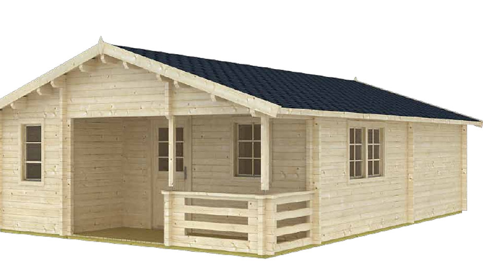 AlmaA-Eco 19 ft. 5 in. x 27 ft 5 in, D.I.Y. building kit with porch