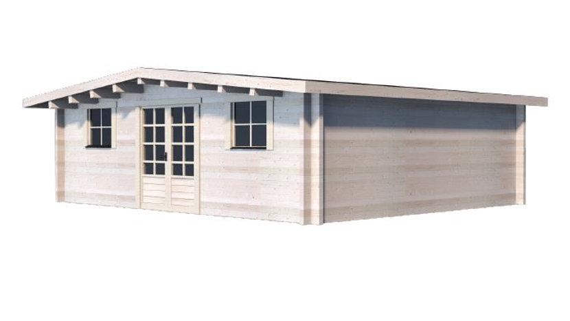 Obby G70 20 ft  x 16 ft. open design milled log D.I.Y building kit