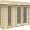 Thumbnail: Orient 15 ft. x 10 ft. Log Cabin Style Pool Garden House D.I.Y. building kit