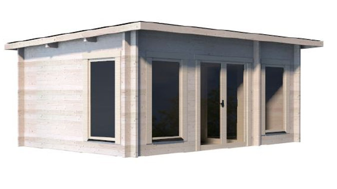 Tony 15 ft. x 10 ft. Log Cabin Style Pool Garden House D.I.Y. building Kit